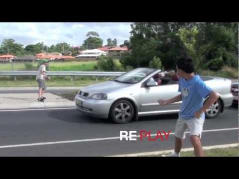Invisible Rope Prank Causes Car Crash HD