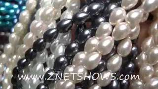 glass pearl teardrop round beads 7x5mm bds1867