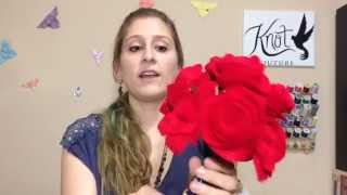 getlinkyoutube.com-DIY Bouquet: Felt Roses