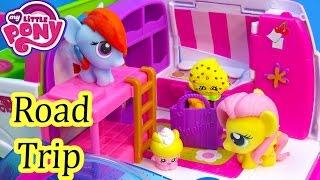 getlinkyoutube.com-MLP Fash'ems Rainbow Dash Fluttershy Shopkins ROAD TRIP RV Camper My Little Pony Video Series Part 1