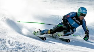 getlinkyoutube.com-Sochi Olympics 2014 | Ted Ligety: Giant Slalom (GS) Skier's Unique Turning | The New York Times