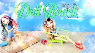 getlinkyoutube.com-DIY - How to Make:  Doll Beach - Handmade - Doll - Crafts