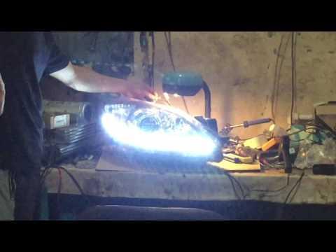 Мазда 3 дхо дневные ходовые огни с бегущим поворотником
