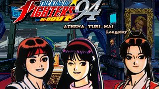 getlinkyoutube.com-The King of Fighters 94 Rebout [PS2] Athena - Yuri - Mai