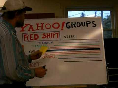 91-PART 1 of 4-Talking about the Red Shift or color shift that is seen in heating of metals.
