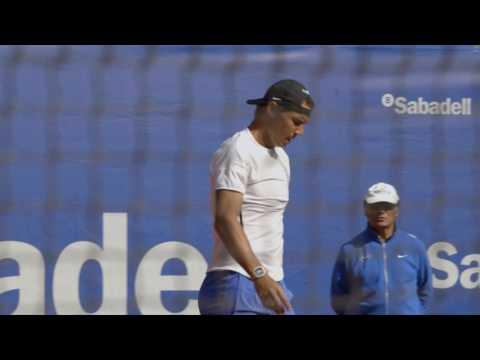 Nadal practices in Barcelona
