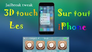 getlinkyoutube.com-OBTENIR LE 3D TOUCH SUR TOUT LES iPhones - TWEAK CYDIA - IOS 9.3-9.3.3