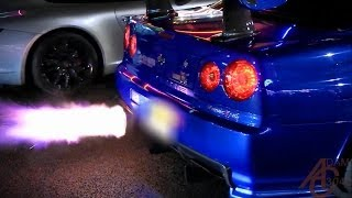 Nissan Skyline GTR R34 - Anti-Lag, LAUNCHES!