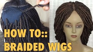 getlinkyoutube.com-BRAIDED WIG//5 ways to attach extensions to wig cap