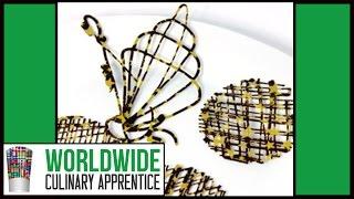 getlinkyoutube.com-Easy Chocolate Decorations - Chocolate Garnishes Techniques - Cake -  Desert - Plating - Art