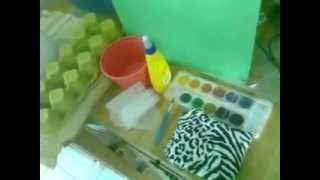 getlinkyoutube.com-Tortuguita hecha con carton de huevos -papel reciclado FÁCIL DE HACER con WENDILUTIPS
