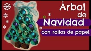getlinkyoutube.com-Árbol de Navidad con Rollos de Papel. 🎄