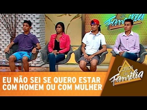Casos De Família (08/10/14) - Eu não sei se quero estar com homem ou com mulher!