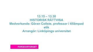 Forskartorget 2015 -  HISTORISK RÄTTVISA?
