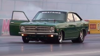 2JZ POWERED DATSUN 1200 COUPE RUNS 7.67 @ 182 MPH SYDNEY DRAGWAY 18.1.2013
