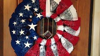 getlinkyoutube.com-How to Make a Patriotic Bandana Wreath