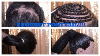 HOW TO: CROCHET A PONYTAIL!!!