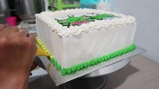 Cara Menghias Kue Ulang Tahun Anak Laki-Laki Keroppi Cake - Cara Membuat Kue Tart Sederhana width=