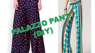 getlinkyoutube.com-How To Make Palazzo pant ( DIY ) Part 1