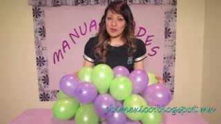 getlinkyoutube.com-Como hacer torres de globos - dia del niño