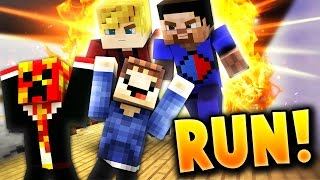 Minecraft ESCAPE FROM YOUTUBERS PARKOUR! | (Vikkstar123 & Lachlan!)