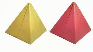 getlinkyoutube.com-How to make Paper Pyramid ( very easy ) : DIY Crafts