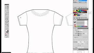 getlinkyoutube.com-Fashion flat sketch in Illustrator pen tool tutorial. Adobe Illustrator tutorial.