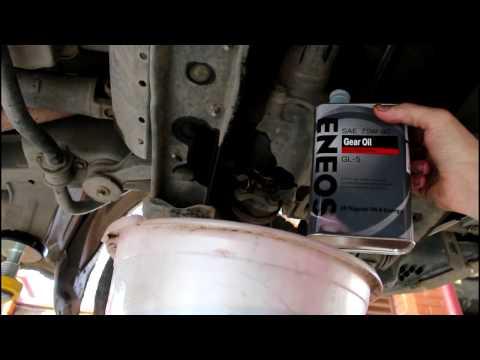 Toyota Noah 3S FE  Тойота Ноах 2000 года  Замена масла в переднем и заднем мосту