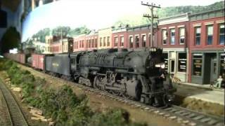 getlinkyoutube.com-Model Train Layout NKP 765
