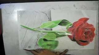 getlinkyoutube.com-dibujando una rosa con lapices acuarelables y tizas pastel - drawing a rose