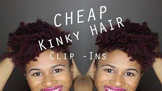 getlinkyoutube.com-Natural Hair   $10 Kinky Hair Clip Ins