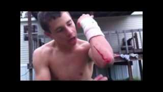 getlinkyoutube.com-Trampoline Wrestling: KBW- KAGE vs. ??? NO HOLDS BARRED (TITLE)