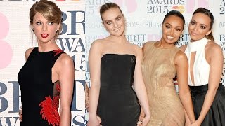 Taylor Swift & Little Mix Fashion at 2015 Brit Awards