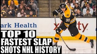getlinkyoutube.com-Top 10 Fastest Slap Shots in NHL History