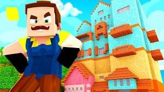 getlinkyoutube.com-ATTACK OF THE GIANT NEIGHBOR! | Hello Neighbor Minecraft Roleplay