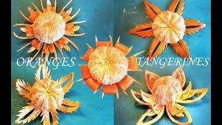 getlinkyoutube.com-FRUIT CARVING: Orange Flowers (Tangerines & Oranges)