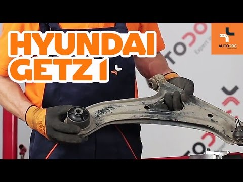 How to replace front arm bushes on Hyundai Getz 1 | Tutorial HD