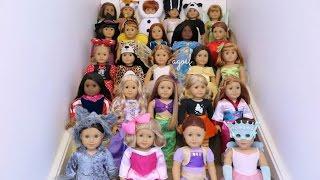 getlinkyoutube.com-Dressing All My American Girl Dolls For Halloween 2015! HD!