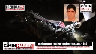 Erzincan'da Feci Motosiklet Kazası: 1 Ölü