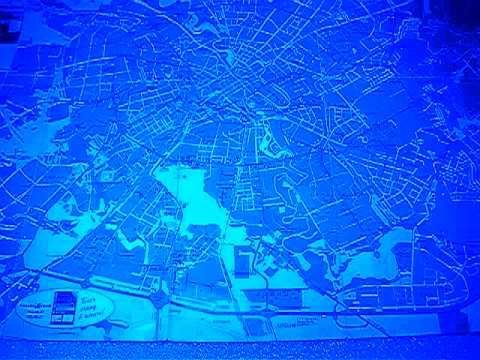 Автомобильная салонная светодиодная панель синяя