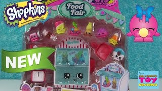 getlinkyoutube.com-Shopkins Candy Collection Season 4 Food Fair Playset | Exclusives Opening | PSToyReviews
