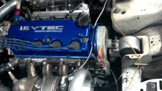 getlinkyoutube.com-D16 turbo vitara piston eagle rods bullseye turbo s256