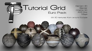 getlinkyoutube.com-New 3d Euro Texture Pack (Element 3d, Cinema 4d, Blender, 3ds Max)