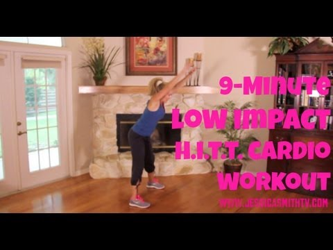 Cardio, Aerobics, Exercise: 9-Minute, Low Impact High Intensity Interval Training (HIIT) Workout