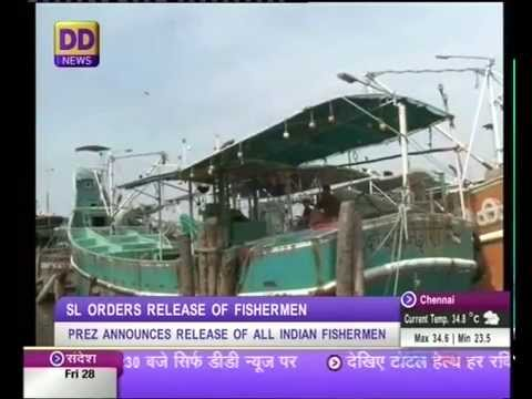 Sri Lanka frees Indian fishermen