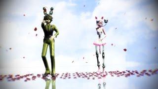 getlinkyoutube.com-【MMD x FNAF】Rather Be [Springtrap x Mangle]