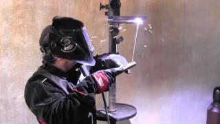 getlinkyoutube.com-Stick Welding Tips for a 4g Overhead Weld Test