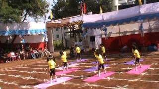 Yoga Display 2014-2015 at Indira Kids Pune