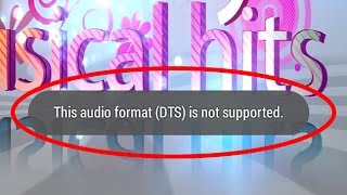 How to fix This audio format(DTS) is not supported in android