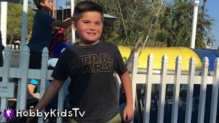 getlinkyoutube.com-VACATION! Bungee Jumpoline + Paddle Boats n' Ferris Wheel Family Fun. Toys n' Train Ride HobbyKidsTV